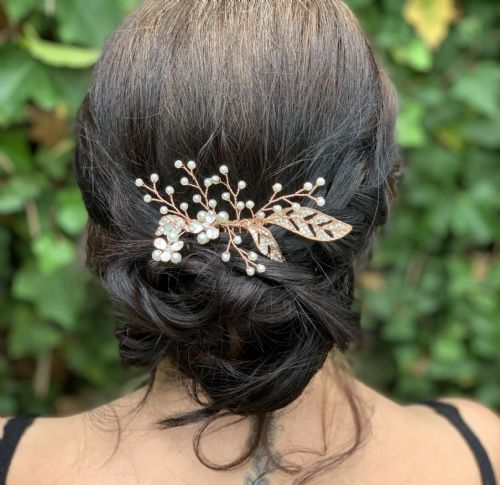 Amy Rose Gold Hair Comb